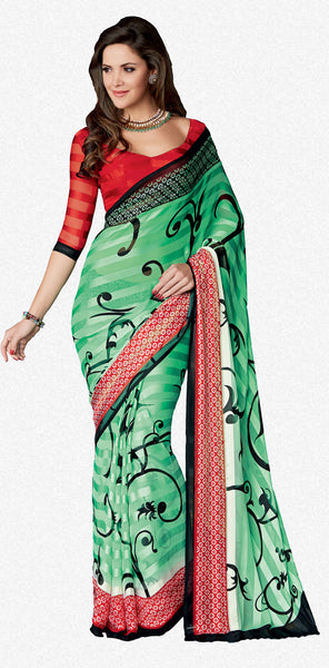 atisundar Ravishing Green Colored Saree - 4028 - atisundar - 1 - click to zoom