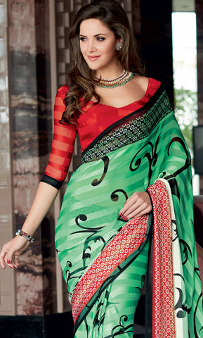 atisundar Ravishing Green Colored Saree - 4028 - atisundar - 4