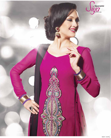 Siya Rukma: Classy Unstitched Embroidered Anarkali Salwar Kameez - 4103 - atisundar - 4 - click to zoom