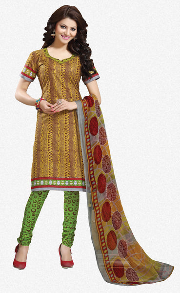 Designer Collection in Pure Cotton Featuring Urvashi Rautela:atisundar excellent Yellow Pure Cotton Designer Printed unstitched Suit - 6576 - atisundar - 1 - click to zoom