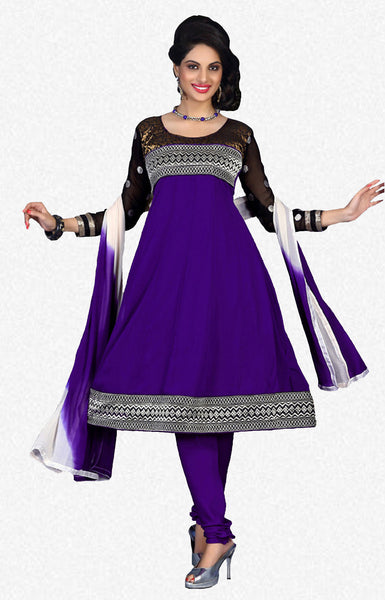 atisundar Tulika: Great Unstitched Salwar Kameez In Purple - 4094 - atisundar - 1 - click to zoom