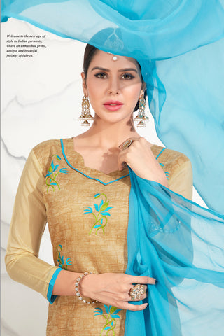 Designer Embroidered Straight Cut Suits:atisundar bewitching Yellow Straight Cut Designer Wear - 14736