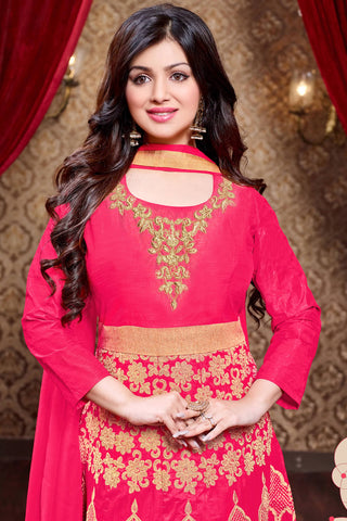 Designer Anarkali:atisundar fair Red Designer Party Wear Anarkali Featuring Ayesha Takia - 13140