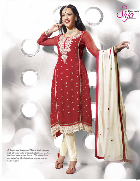 Siya Vinutha: Marvelous Unstitched Embroidered Anarkali Salwar Kameez - 4111 - atisundar - 2 - click to zoom