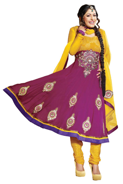 Siya Jayita: Beautiful Unstitched Salwar Kameez In Pink - 4125 - atisundar - 2 - click to zoom