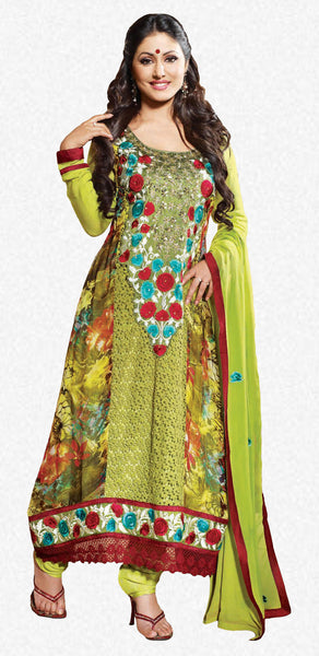 Siya Fajyaz: Bewitching Unstitched Embroidered Anarkali Salwar Kameez - 4136 - atisundar - 1 - click to zoom