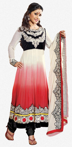 Siya Sushila: Graceful Unstitched Embroidered Anarkali Salwar Kameez - 4137 - atisundar - 1 - click to zoom