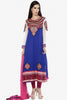 Resplendent Embroidered Anarkali Blue Unstitched Salwar Kameez By atisundar - 4142 - click to zoom
