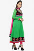 Pretty Embroidered Anarkali Green Unstitched Salwar Kameez By atisundar - 4143 - click to zoom