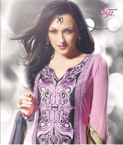 Siya Vijaya: Charming Unstitched Embroidered Anarkali Salwar Kameez - 4116 - atisundar - 4