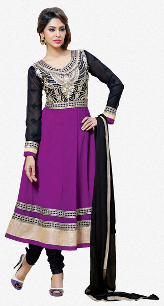 atisundar Rajeshwari: Lovely Semi stitched Embroidered Anarkali  - 4160 - atisundar - 1 - click to zoom