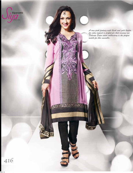 Siya Vijaya: Charming Unstitched Embroidered Anarkali Salwar Kameez - 4116 - atisundar - 2 - click to zoom