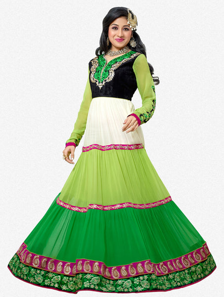 Jodha-Sonal:Alluring Embroidered Anarkali Green Semi stitched Salwar Kameez By atisundar - 4210 - atisundar - 1 - click to zoom