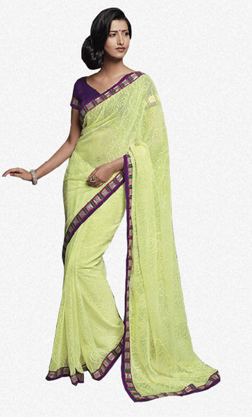 Florence:atisundar Gorgeous Lemon Colored Saree - 4272 - atisundar - 2 - click to zoom