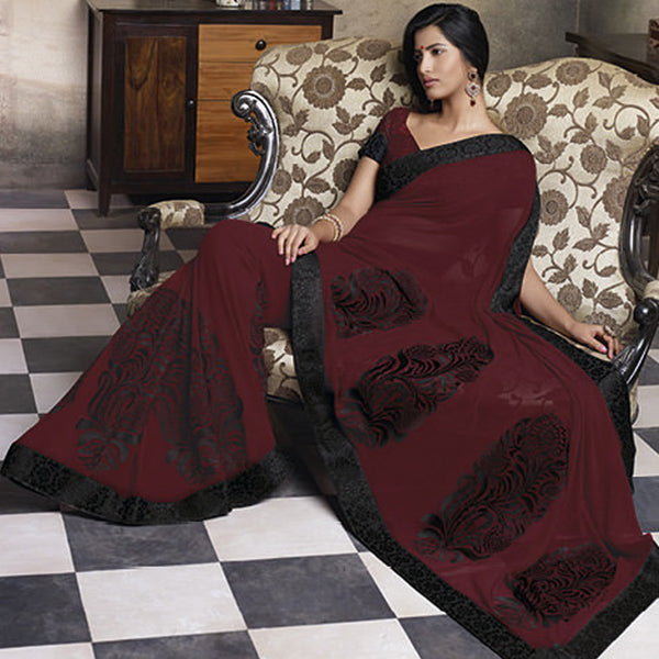 Florence:atisundar Smart Maroon Colored Saree - 4283 - atisundar - 4 - click to zoom