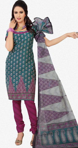 Siya Maharani:Beauteous Designer Cotton Printed Salwar Suit Green Unstitched Salwar Kameez By atisundar - 4297 - atisundar - 1 - click to zoom