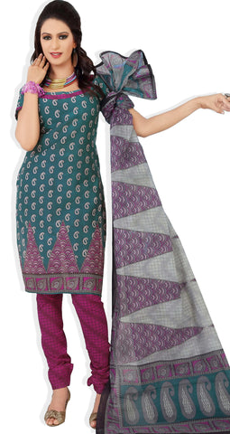 Siya Maharani:Beauteous Designer Cotton Printed Salwar Suit Green Unstitched Salwar Kameez By atisundar - 4297 - atisundar - 2 - click to zoom