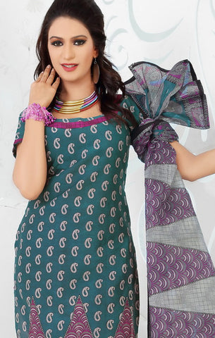 Siya Maharani:Beauteous Designer Cotton Printed Salwar Suit Green Unstitched Salwar Kameez By atisundar - 4297 - atisundar - 4 - click to zoom