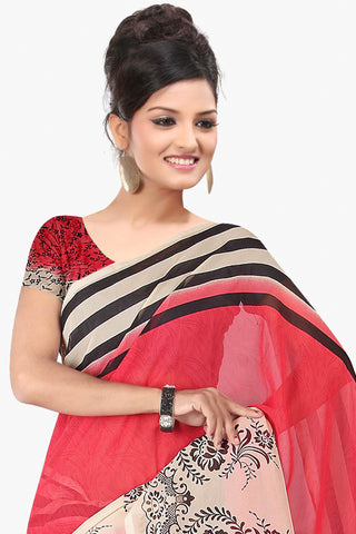 Designer Party wear Saree:atisundar marvelous Designer Sarees in Red  - 11416 - atisundar - 2 - click to zoom