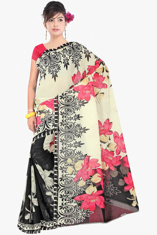 Designer Party wear Saree:atisundar gorgeous Designer Sarees in Cream  - 11418 - atisundar - 1 - click to zoom