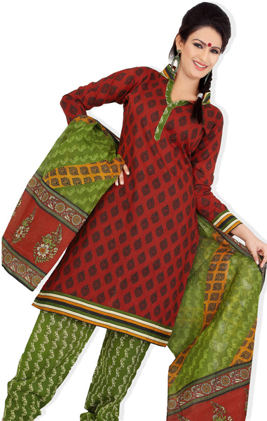 Siya Maharani:atisundar Anandi: Great Unstitched Designer Cotton Printed Salwar Suit Salwar Kameez - 4317 - click to zoom