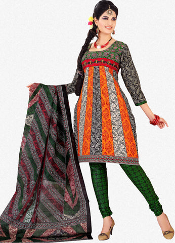 Siya Muskaan Gold:Lovely Designer Cotton Printed Salwar Suit Orange And White Unstitched Salwar Kameez By atisundar - 4343 - atisundar - 1 - click to zoom