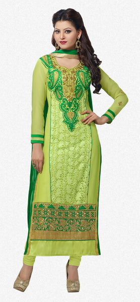 The Urvashi Rautela Collection:atisundar enticing Light Green Designer Straight Cut  - 6635 - atisundar - 1 - click to zoom