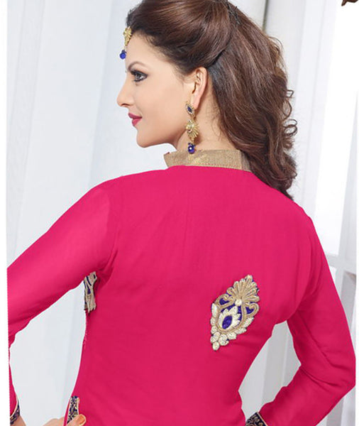 The Urvashi Rautela Collection:atisundar pretty Pink Designer Straight Cut  - 6640 - atisundar - 4 - click to zoom