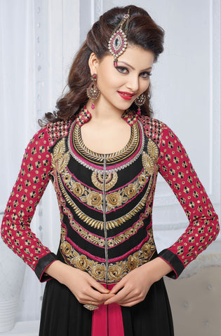 The Urvashi Rautela Collection:atisundar elegant Black Designer Anarkali - 6641 - atisundar - 4