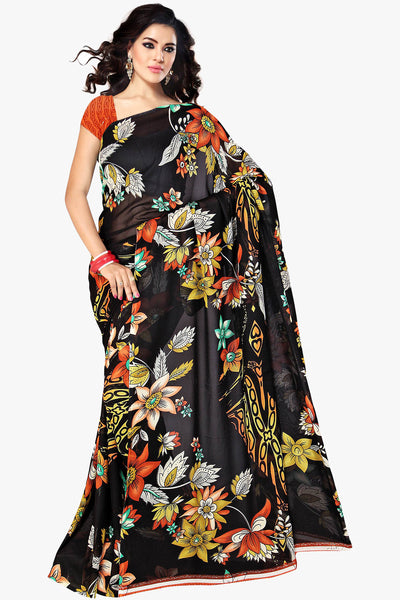 Designer Part wear Saree:atisundar wonderful Designer Sarees in Black  - 11421 - atisundar - 1 - click to zoom