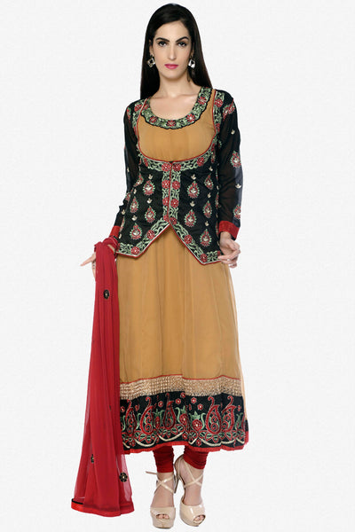The Sushmita Sen Collection: atisundar Naina: Amazing Semi stictched Embroidered Anarkali - 4421 - click to zoom