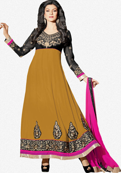 The Sushmita Sen Collection: atisundar Neha: Beautiful Embroidered Semi stitched Anarkali - 4425 - atisundar - 1 - click to zoom
