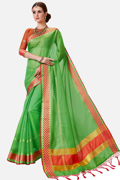 Designer Rich Look Kota Silk Saree:atisundar Beautiful Designer Party Wear Sarees in Green  - 14724 - click to zoom