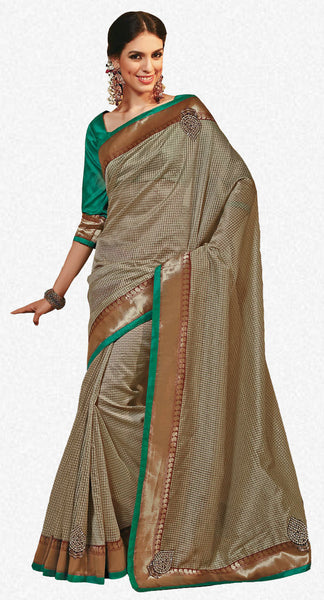 Rajguru Radiance:atisundar   marvelous Designer Embroidery Saree in Golden  - 4641 - atisundar - 1 - click to zoom