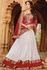 Designer Lehenga:atisundar superb Net Designer Party Wear Lehenga in White - 11842 - atisundar - 4 - click to zoom