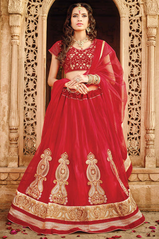 Designer Lehenga:atisundar exquisite Velvet  Designer Party Wear Lehenga in Maroon - 11845 - atisundar - 3 - click to zoom