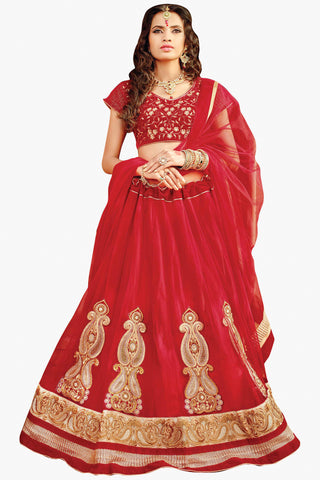 Designer Lehenga:atisundar exquisite Velvet  Designer Party Wear Lehenga in Maroon - 11845 - atisundar - 1 - click to zoom