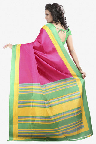 Designer Bhagalpuri Saree:atisundar Lovely Designer Printed Saree in Faux Bhagalpuri Silk in Multi  - 11129 - atisundar - 3