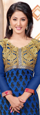 Designer Straight Cut Suit:atisundar enticing Blue Designer Straight Cut  - 6667 - atisundar - 4 - click to zoom