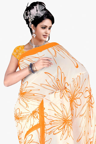 Designer Party wear Saree:atisundar comely Designer Sarees in White  - 11431 - atisundar - 2