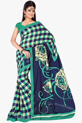 Designer Party wear Saree:atisundar Smart Designer Sarees in Blue  - 11434 - atisundar - 1 - click to zoom