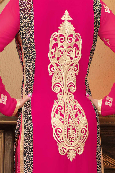 Designer Straight Cut:atisundar lovely Light Pink Designer Embroidered Straight Cut - 10650 - click to zoom