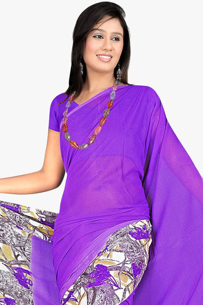 Designer Party wear Saree:atisundar admirable Designer Sarees in Purple  - 11439 - click to zoom