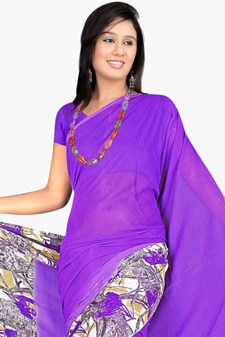 Designer Party wear Saree:atisundar admirable Designer Sarees in Purple  - 11439 - atisundar - 2 - click to zoom