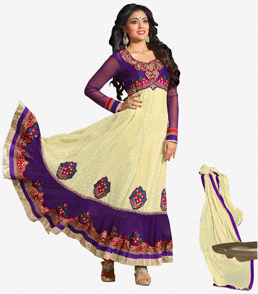 Shriya:atisundar splendid   in Purple And Cream - 4959 - atisundar - 1 - click to zoom