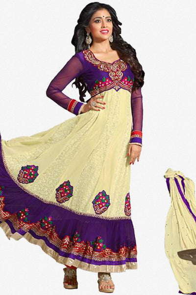 Shriya:atisundar splendid   in Purple And Cream - 4959 - click to zoom