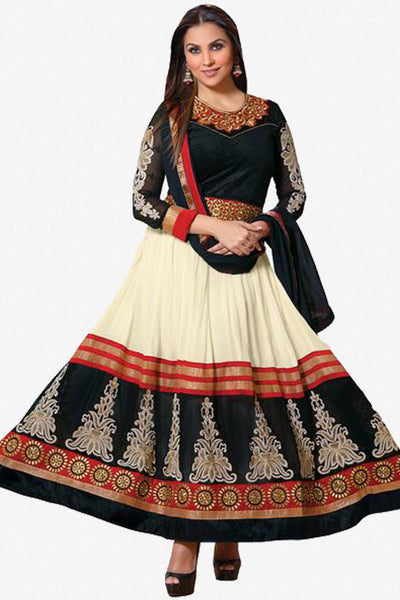 Lara Dutta Collection:atisundar enticing   in Cream And Black - 4966 - click to zoom
