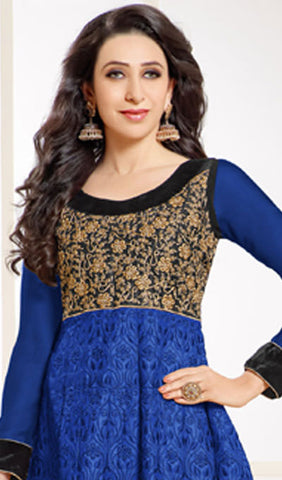 The Karishma Kapoor Collection:atisundar bewitching Blue Designer Embroidered Anarkali - 9922 - atisundar - 2