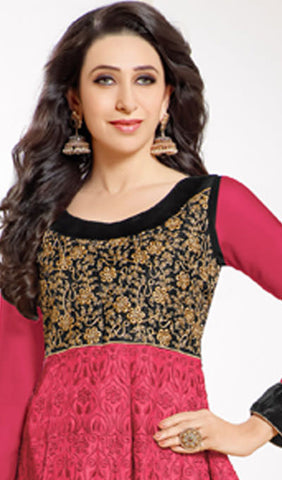 The Karishma Kapoor Collection:atisundar lovely Pink Designer Embroidered Anarkali - 9924 - atisundar - 2