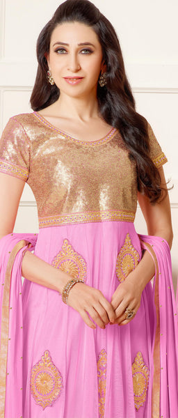 The Karishma Kapoor Collection:atisundar enticing Pink embroidered Party Wear Anarkali - 6784 - atisundar - 3 - click to zoom